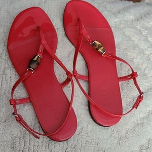 Gucci Patent Red Sandals - Size 39